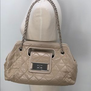Chanel authentic leather beige bag